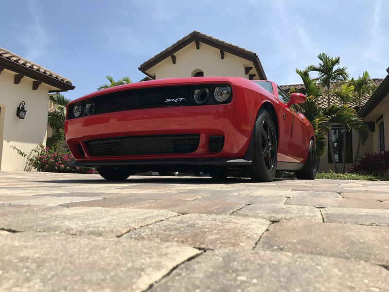 Red 2015 Dodge Challenger Hellcat