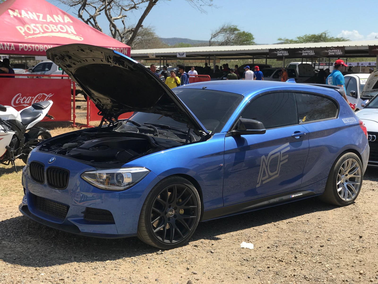 blue storil 2014 BMW M135i coupe