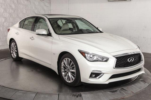 2018 WHITE Infiniti Q50 3.0t LUXE picture, mods, upgrades