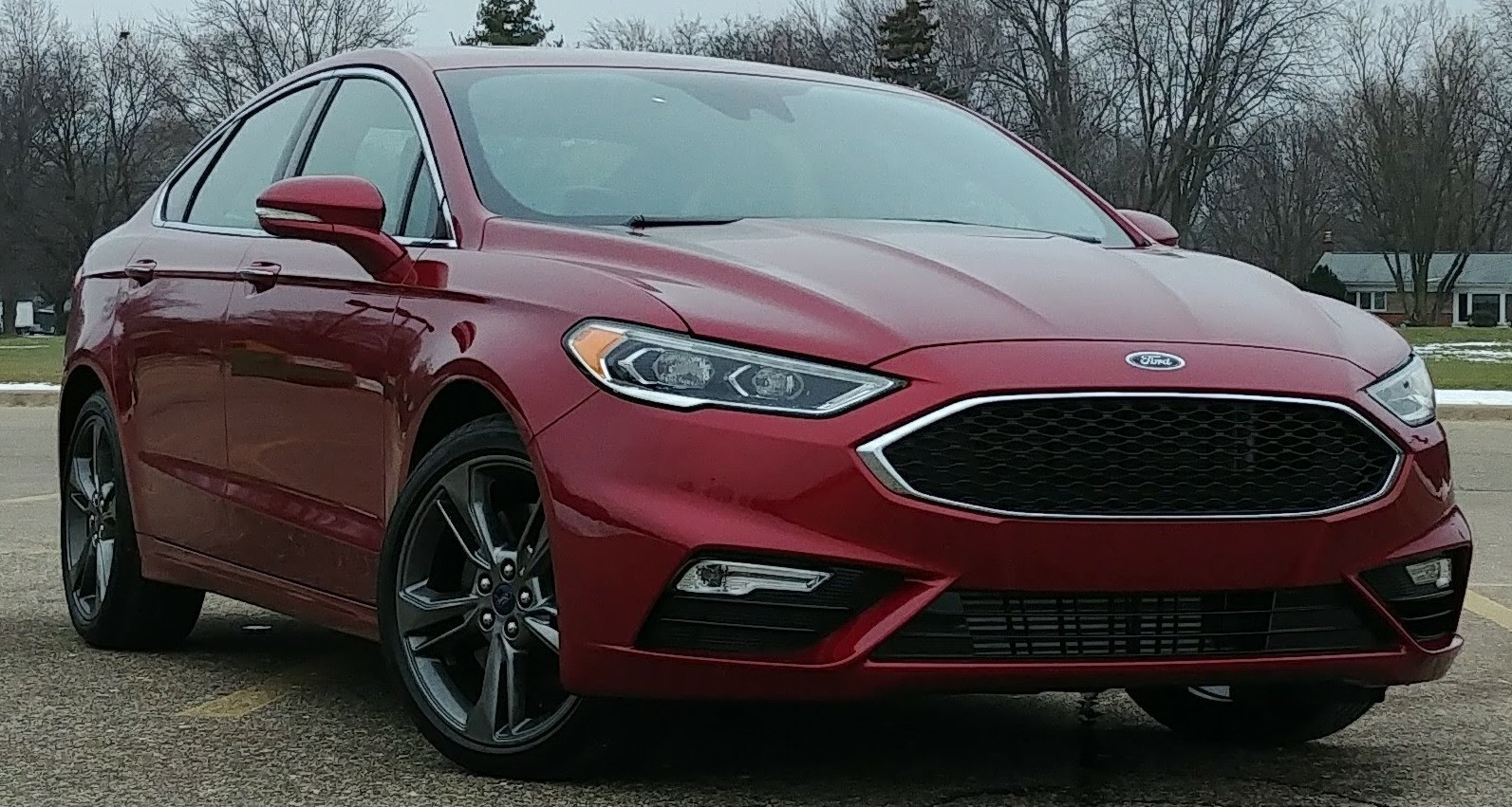 Ruby Red Metallic 2017 Ford Fusion Sport