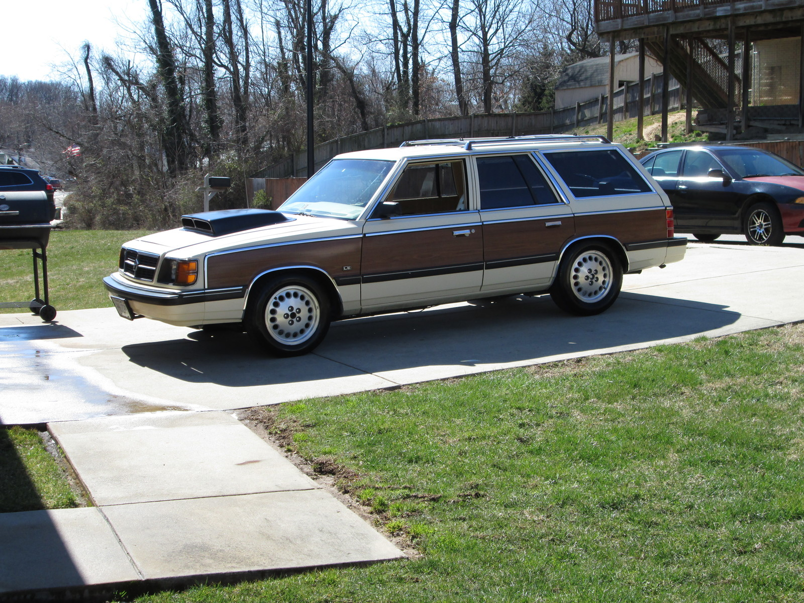 Yellow 1987 Dodge Aries SE