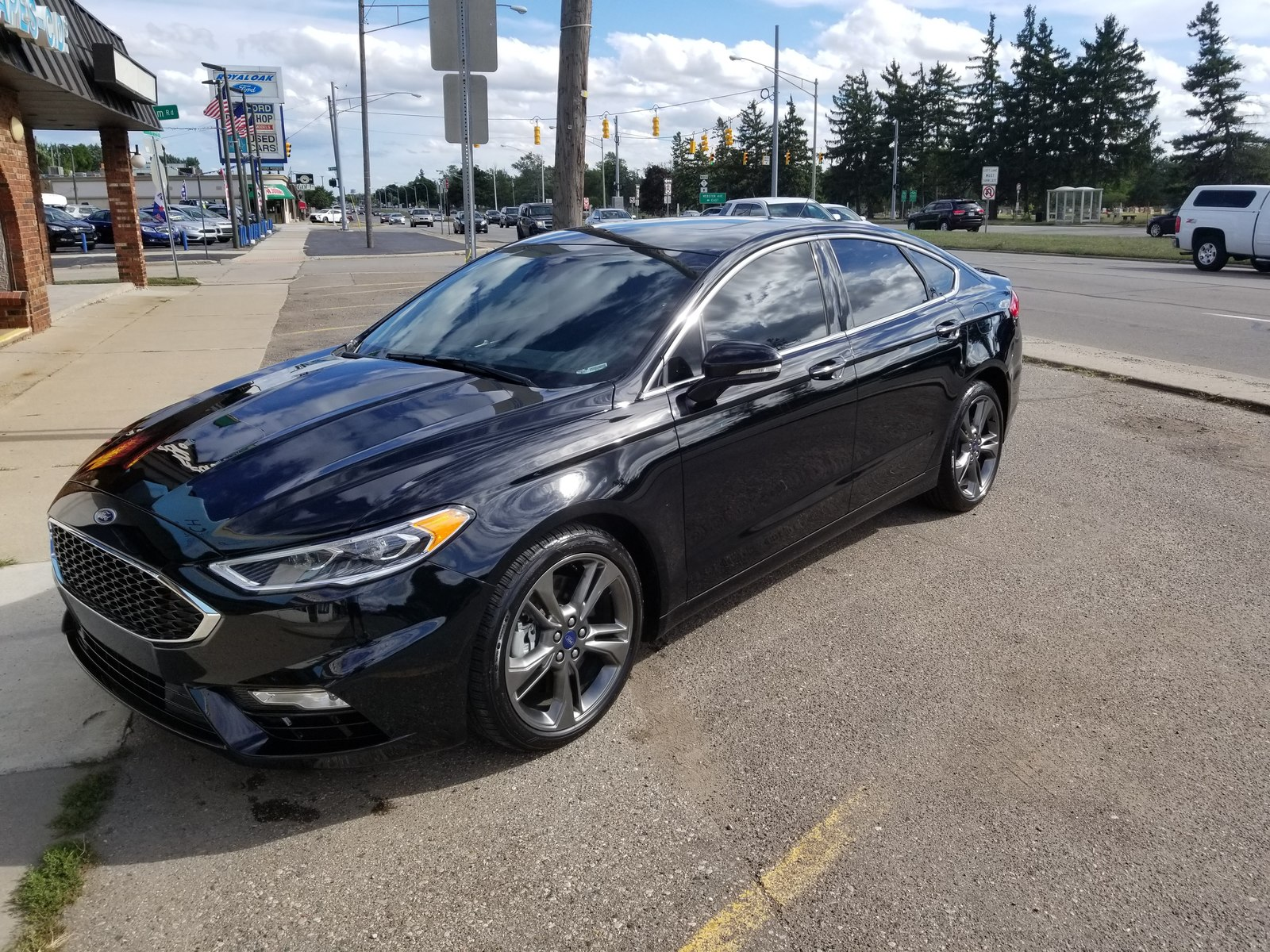Black 2018 Ford Fusion Sport