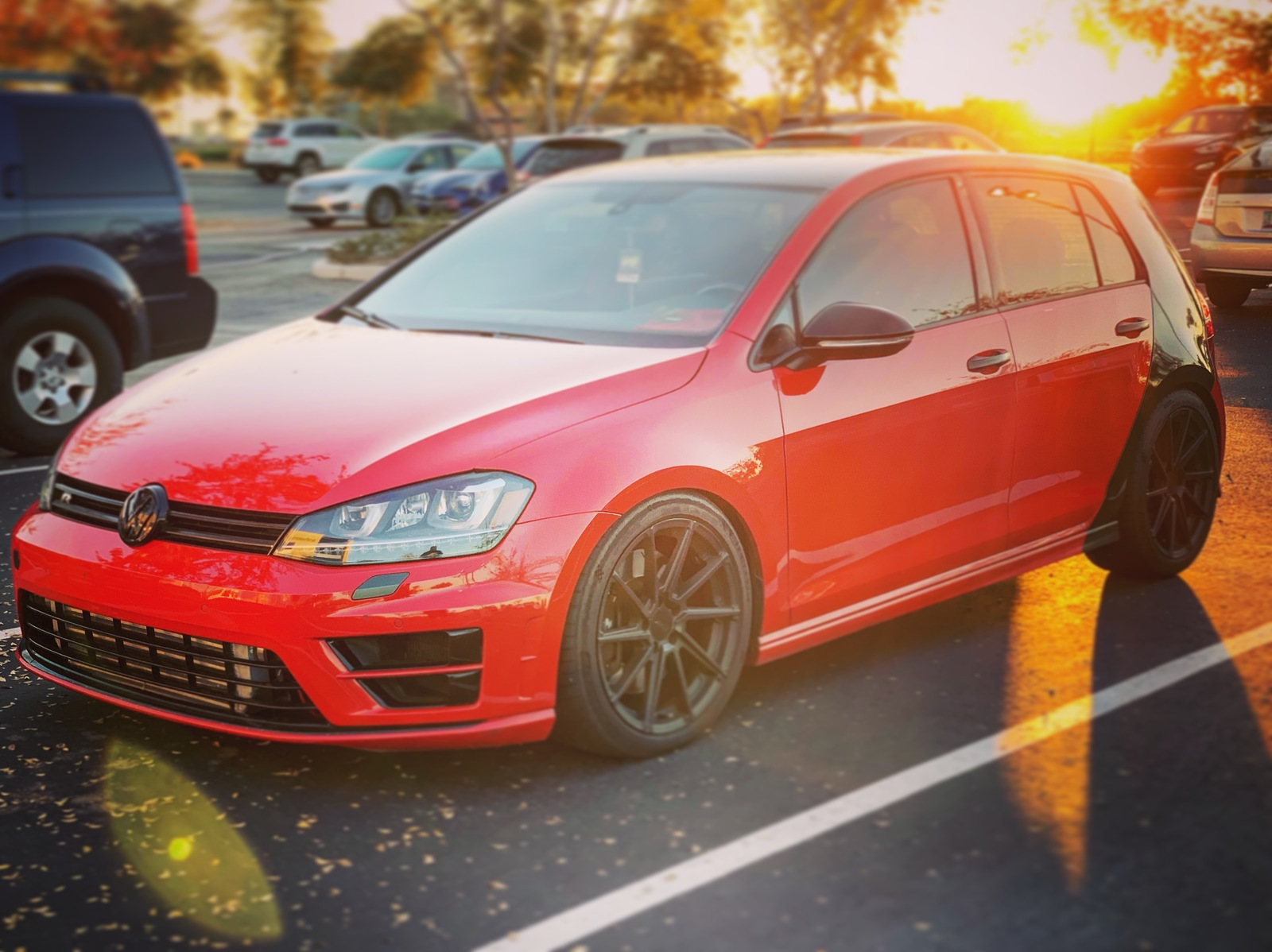 Tornado Red 2015 Volkswagen Golf R 4 door