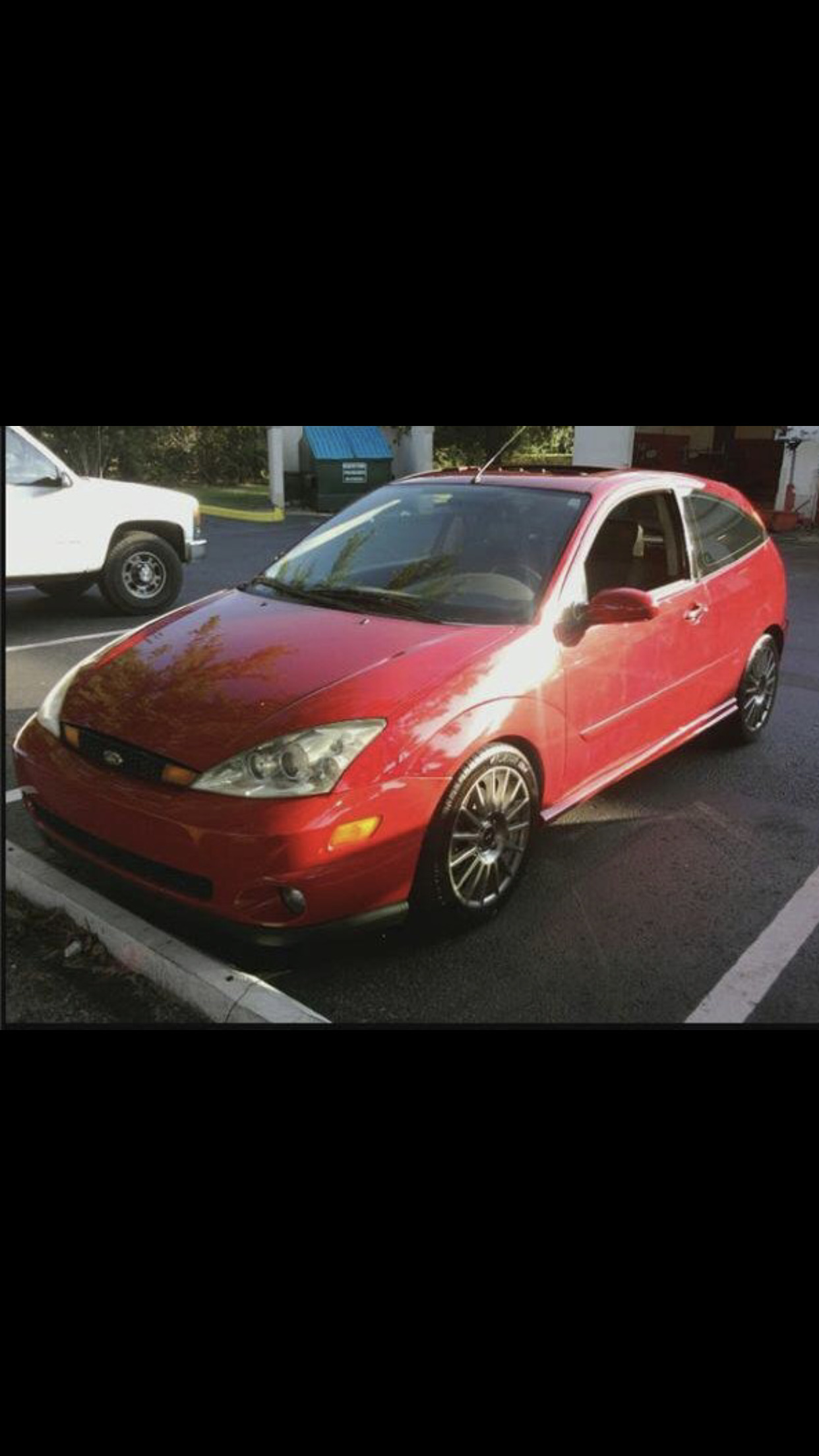 Red 2004 Ford Focus SVT