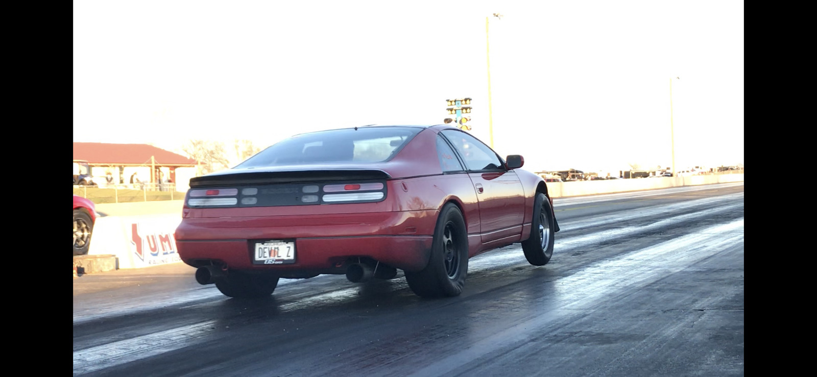 Red 1990 Nissan 300ZX 2+2
