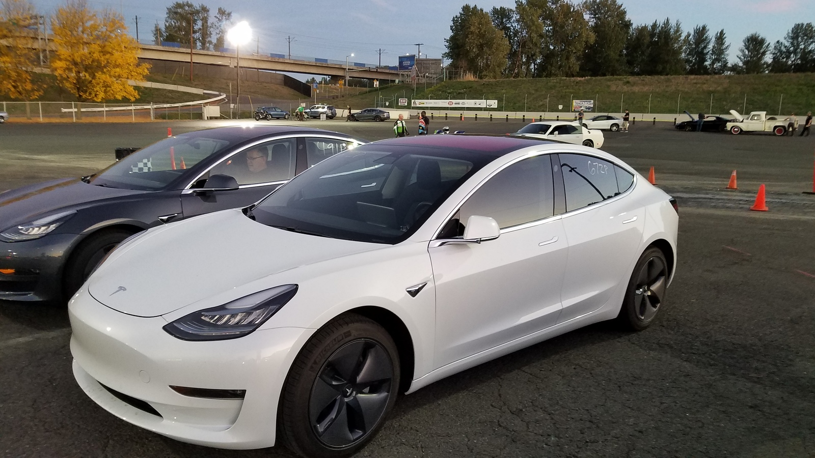 White  2018 Tesla Model 3 RWD Long Range