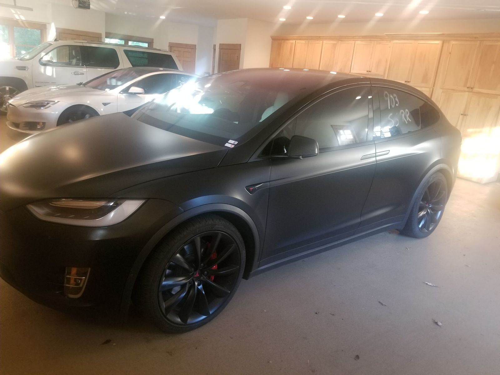Black Matte 2017 Tesla Model X P100DL