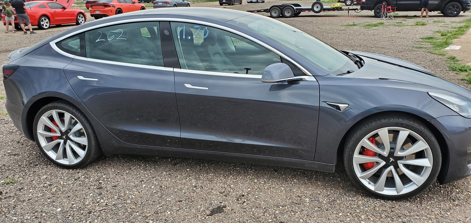 2019 Grey Tesla Model 3 Performance picture, mods, upgrades