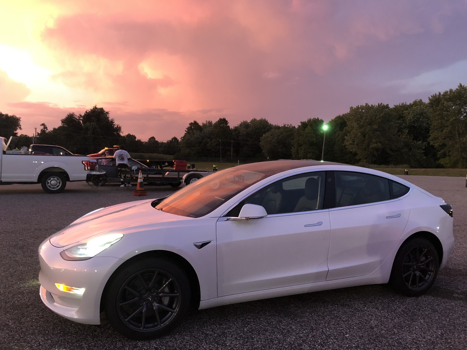 2019 White Tesla Model 3 Performance Stealth picture, mods, upgrades