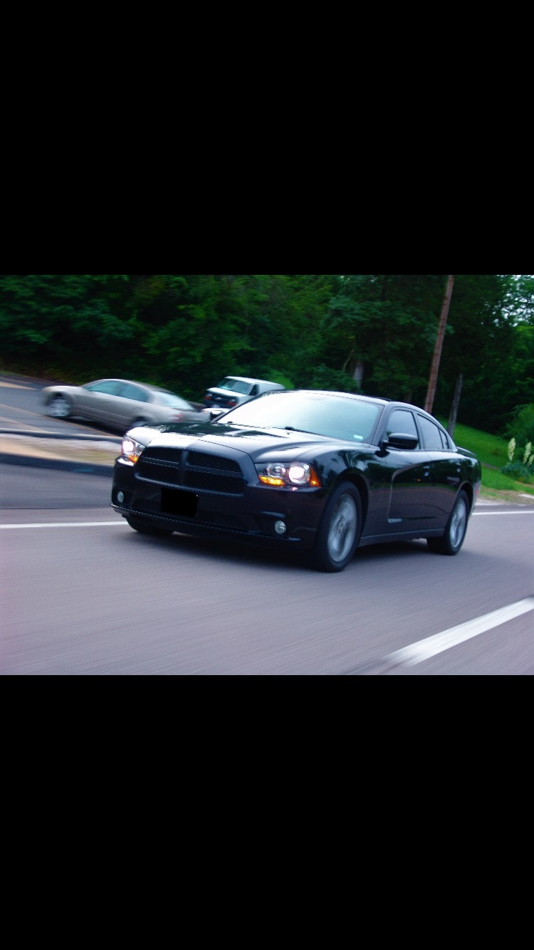 Black  2013 Dodge Charger RT AWD