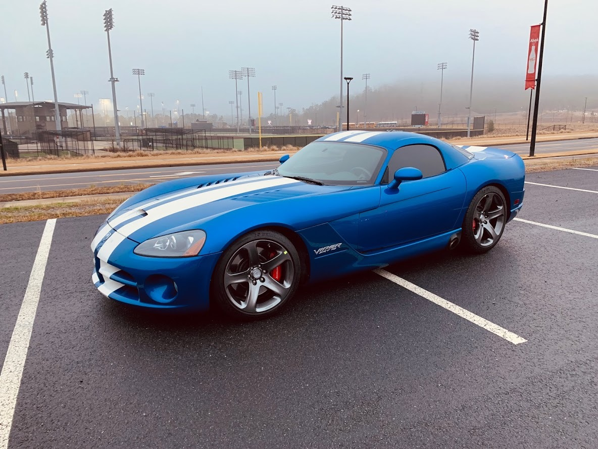 GTS Blue with White Racing Stripes 2006 Dodge Viper SRT-10
