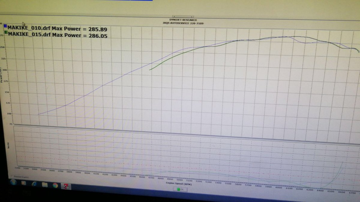 2008 Blue Chamaleon Scion tC  Dyno Graph