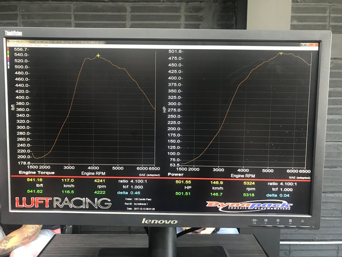 2014 blue storil BMW M135i coupe Dyno Graph