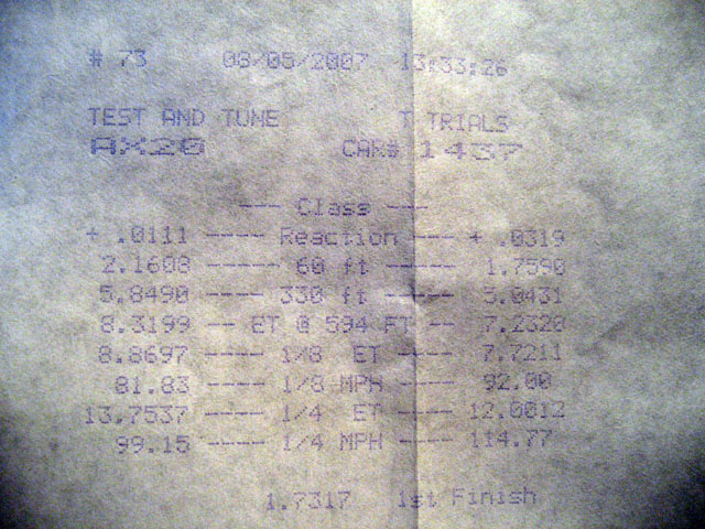 2003  Dodge Neon SRT-4  Timeslip Scan