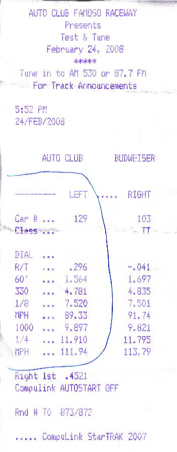 1998  Pontiac Trans Am Coupe Timeslip Scan