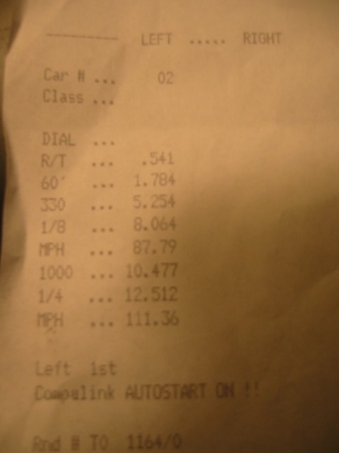 1999  Mazda Miata MX5 GT2860RS Turbo Timeslip Scan