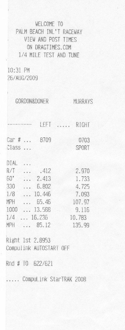 2008  Ford Mustang Shelby-GT500 Coupe Whipple Zex Nitrous Timeslip Scan