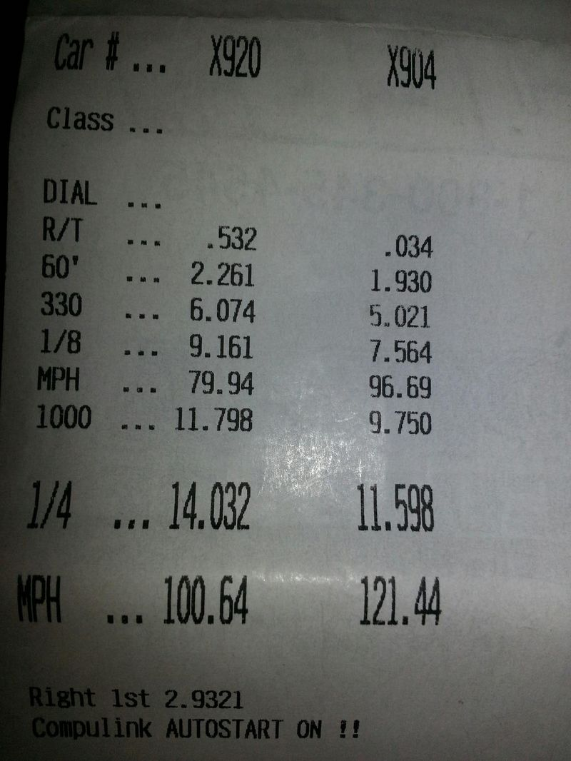 2006 blue Saturn ION  Timeslip Scan