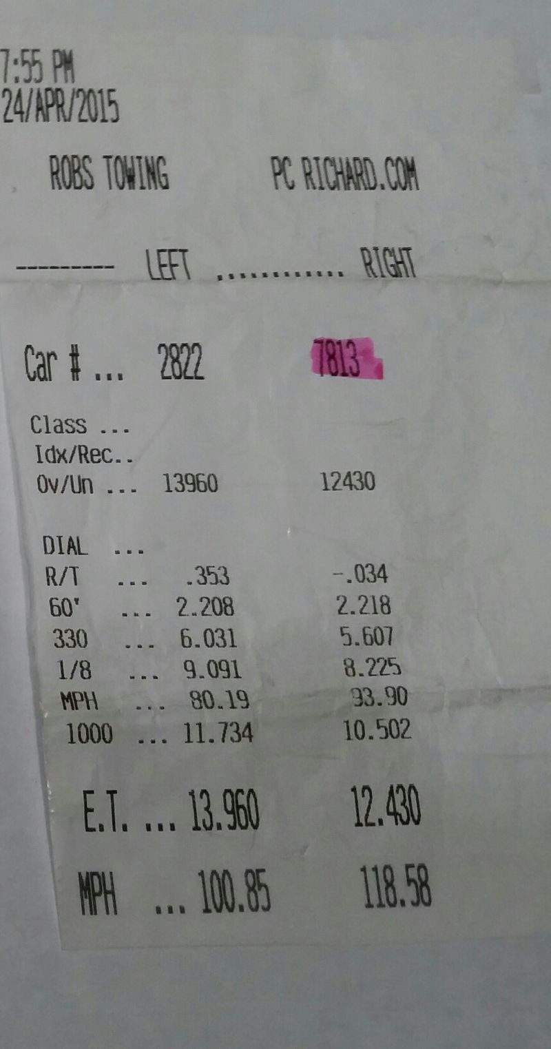 1990 Black Nissan 300ZX 6.0 LS swapped Timeslip Scan