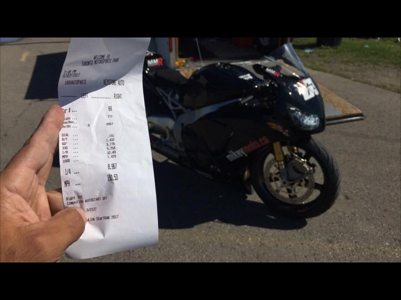 2015 Black  Honda CBR SP Timeslip Scan