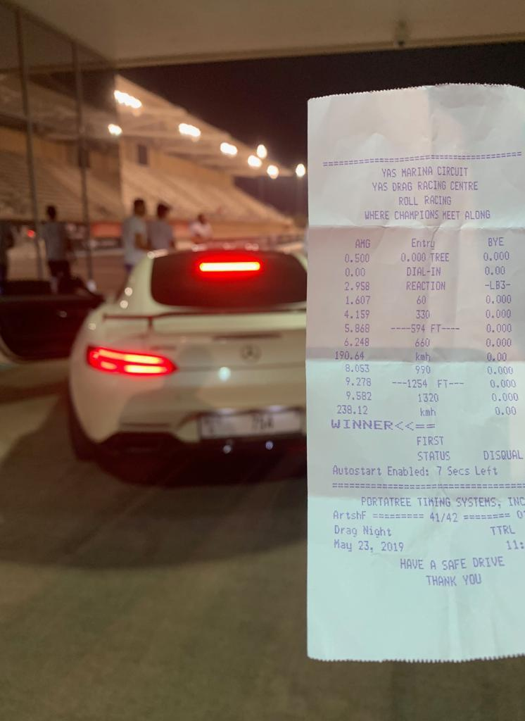 2016 White Mercedes-Benz AMG AMG GTS GAD-MOTORS Timeslip Scan