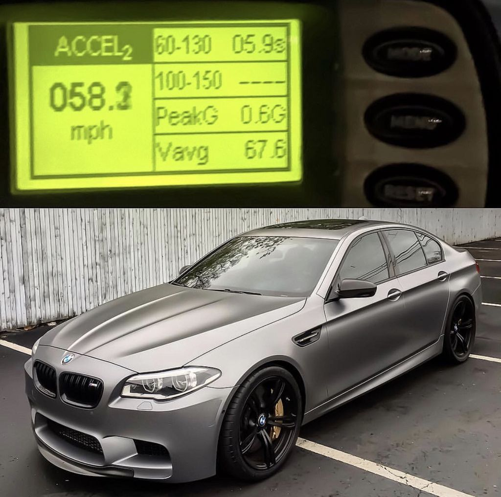 2015 Frozen Grey BMW M5 F10 60-130 MPH Scan