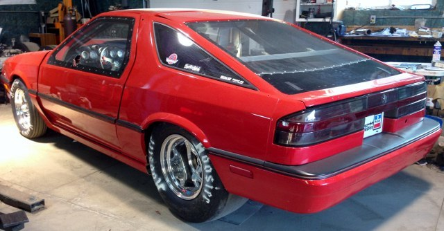 1987 Dodge Daytona Shelby Z 1/4 mile Drag Racing timeslip specs 0-60 - DragTimes.com